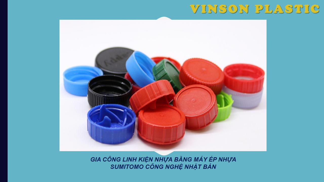Gia công chi tiết nhựa dược mỹ thực phẩm: nắp, nút....